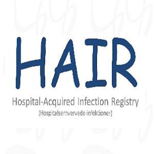 HAIR er udviklet af mikrobiologisk afdeling. Formålet med applikationen er at overvåge hospitalserhvervede infektioner.