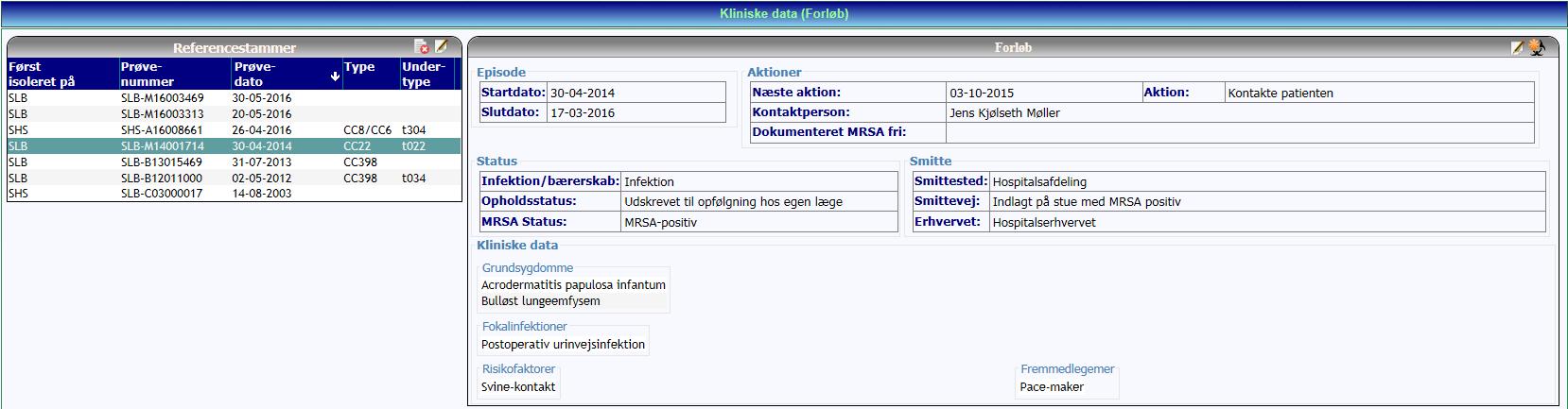Kliniske data_refstamme